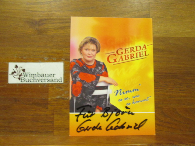 Original Autogramm Gerda Gabriel /// Autogramm Autograph signiert signed signee