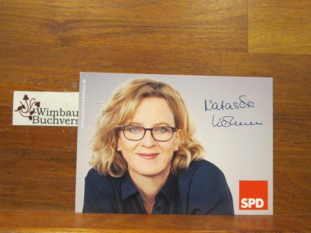 Autogrammkarte Natascha Kohnen SPD Generalsekretärin Bayern