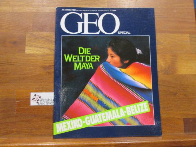 Geo Special 5 Oktober 1993 Die Welt der Maya Mexiko Guatemala Belize
