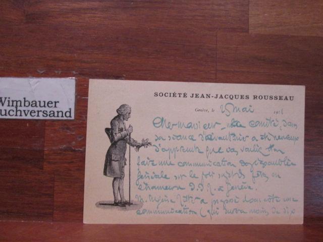 Autograph Bernard Bouvier als Gründer der Société Jean Jacques Rousseau /// Autogramm Autograph signiert signed signee