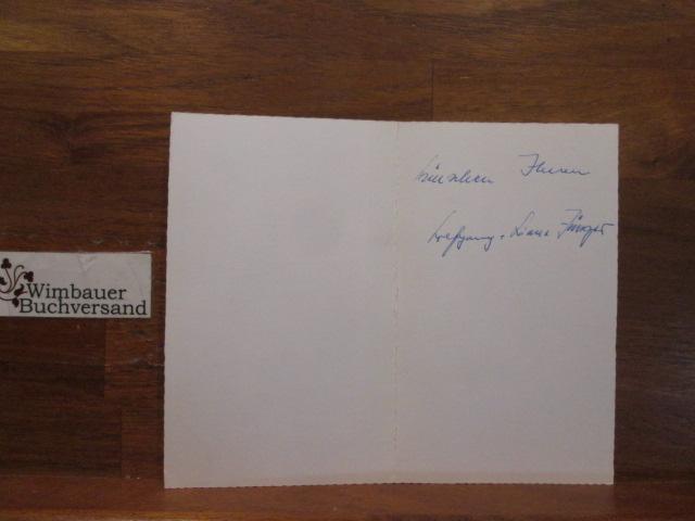 Weihnachtskarte Wolfgang Jünger (Bruder von Ernst Jünger)