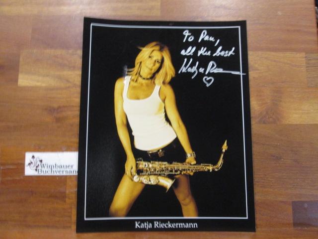 Original Autograph Katja Rieckermann Jazz Saxophonistin /// Autogramm Autograph signiert signed signee