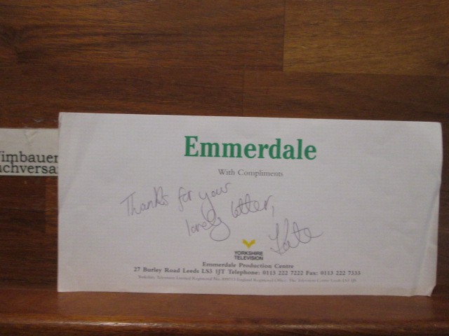 Original Autograph Kate McGregor (*1972, english actress) Emmerdale /// Autogramm Autograph signiert signed signee