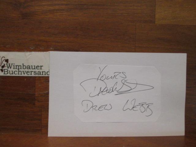 Webb, Drew : Original Autograph Drew Webb (english actress) Doctors /// Autogramm Autograph signiert signed signee