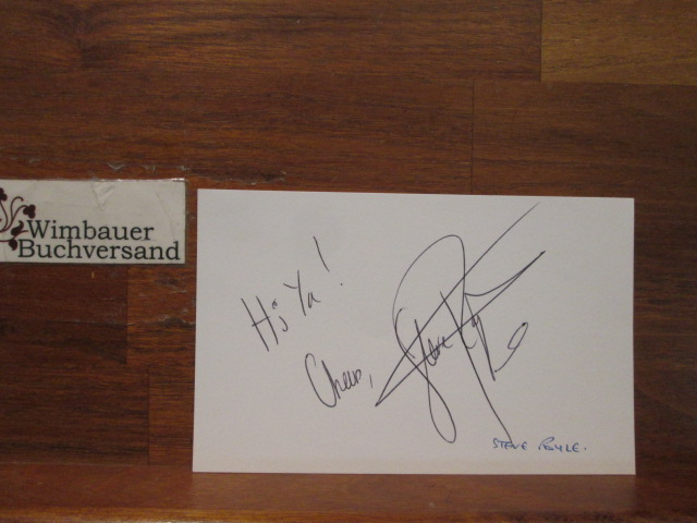 Original Autograph Steve Royle (english actor) BBC Radio Lancashire /// Autogramm Autograph signiert signed signee