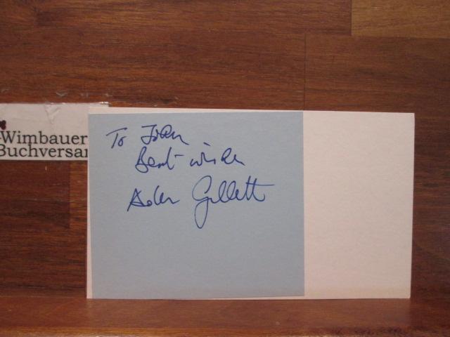 Original Autograph Cathy Rakoff & Aden Gillett (english actors) House of Eliott /// Autogramm Autograph signiert signed signee