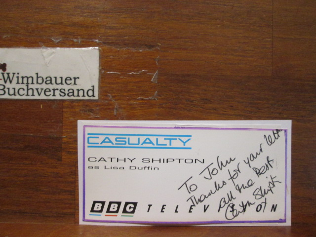 Original Autograph Cathy Shipton (*1957 english actress) Casualty /// Autogramm Autograph signiert signed signee