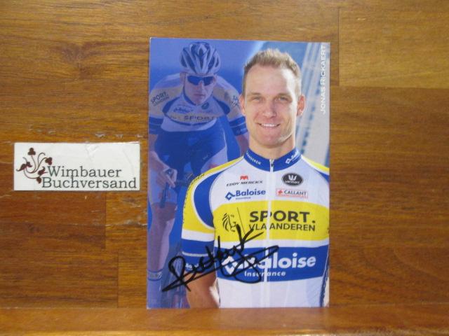 Original Autogramm Jonas Rickaert belgischer Radsportler /// Autogramm Autograph signiert signed signee