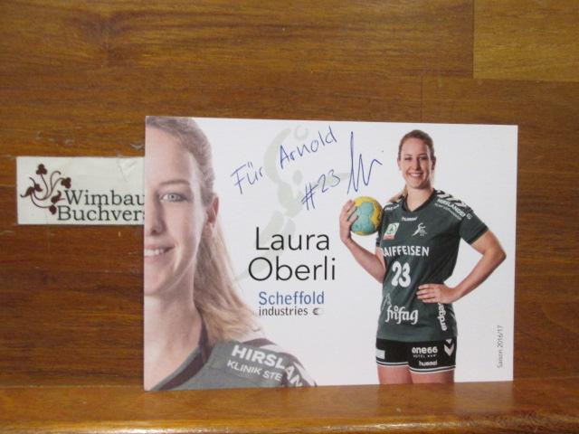 Original Autogramm Laura Oberli Handball /// Autogramm Autograph signiert signed signee