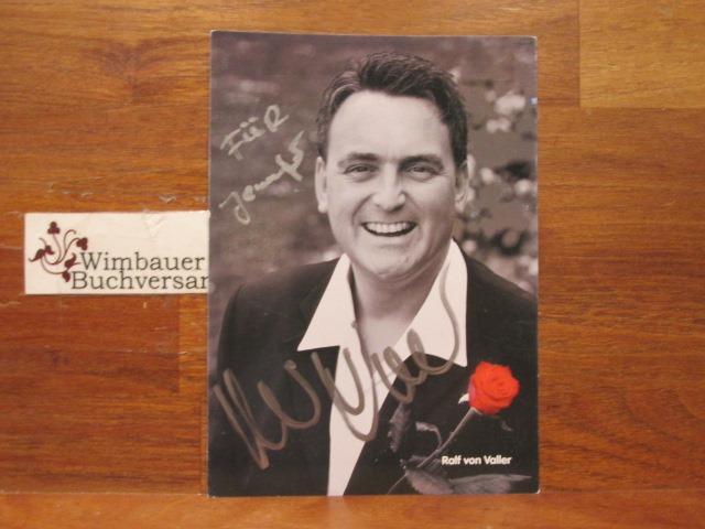 Original Autogramm Ralf von Valler Schlagersänger /// Autogramm Autograph signiert signed signee