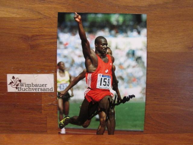 Autograph Ben Johnson (jamaican-canadian sprinter *1961) /// Autogramm Autograph signiert signed signee