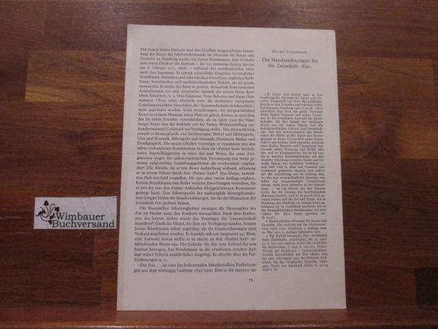 Die Handzeichnungen für die Zeitschrift Pan.- Reprint/Sonderdruck aus: Imprimatur, 4 (1963-1964)