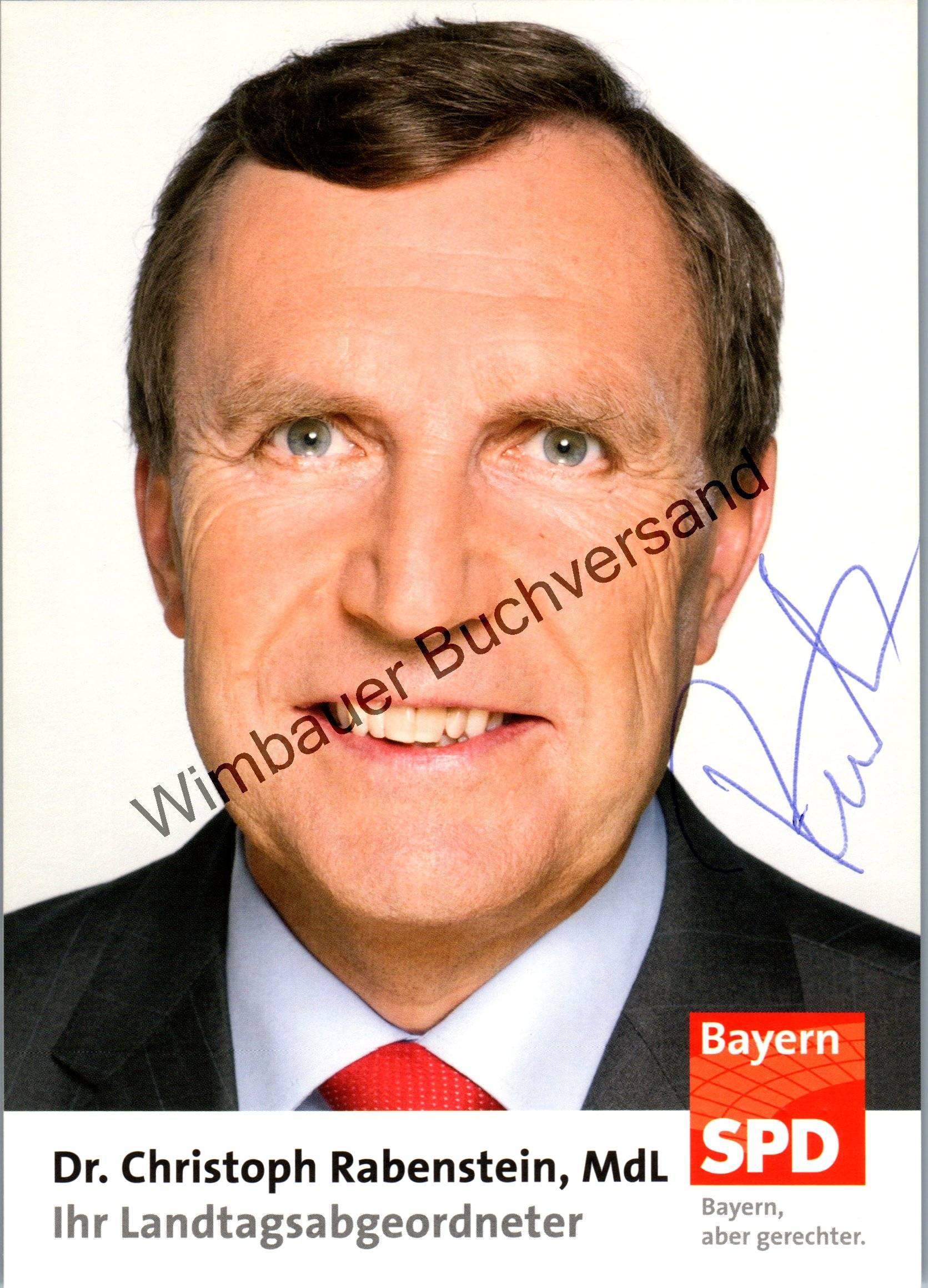 Original Autogramm Christoph Rabenstein SPD MdL Bayern /// Autogramm Autograph signiert signed signee