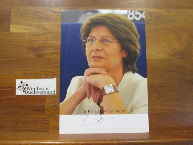 Original Autogramm Renate Sommer MdEP CDU /// Autogramm Autograph signiert signed signee