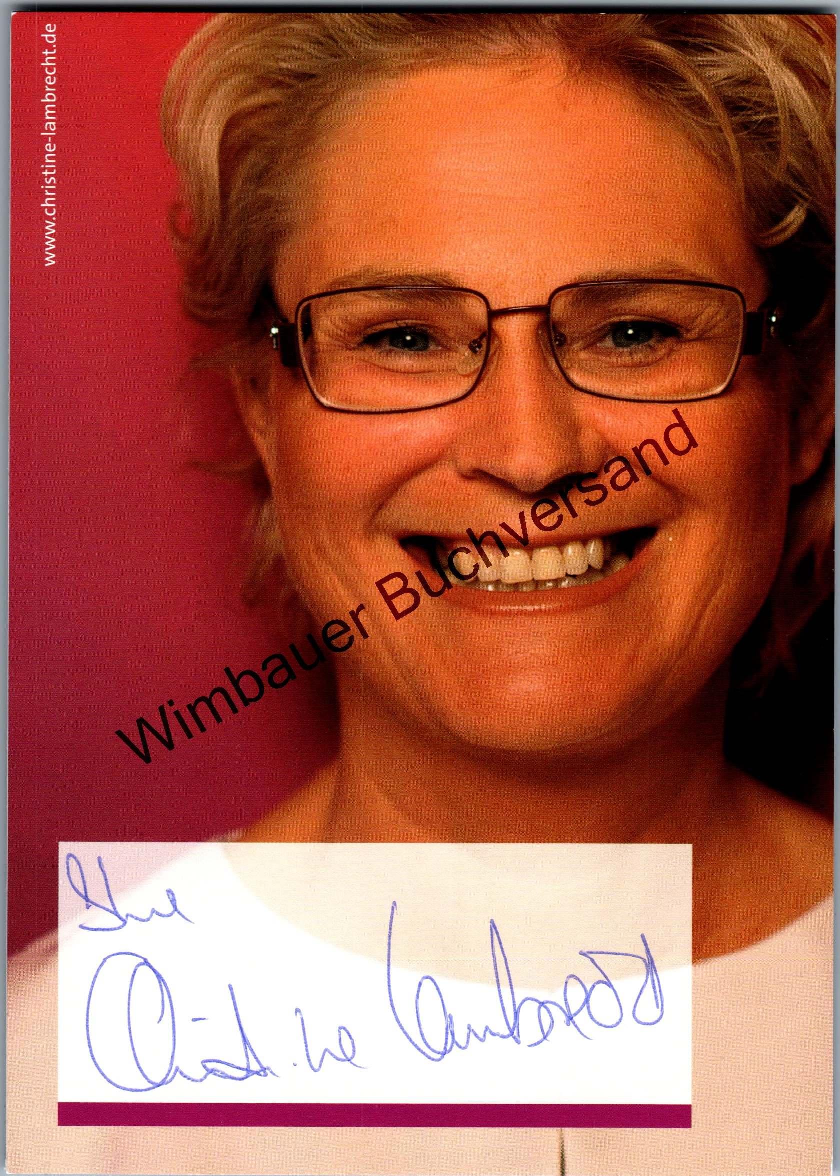 Original Autogramm Christine Lambrecht Bundesministerin SPD /// Autogramm Autograph signiert signed signee