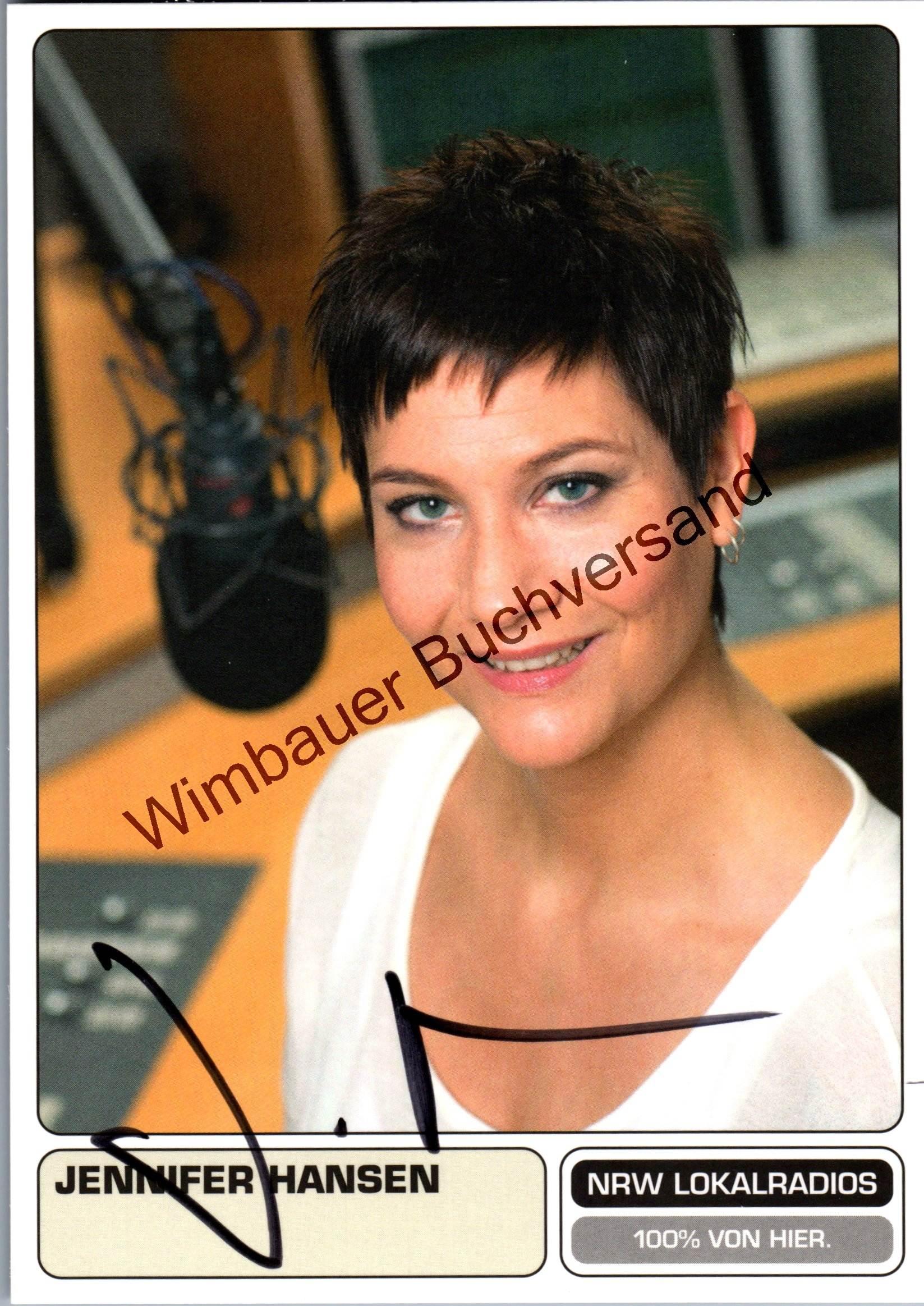 Original Autogramm Jennifer Hansen NRW Lokalradios /// Autogramm Autograph signiert signed signee