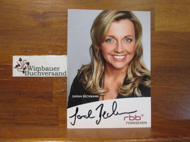 Original Autogramm Sarah Beckmann von Behren RBB /// Autogramm Autograph signiert signed signee