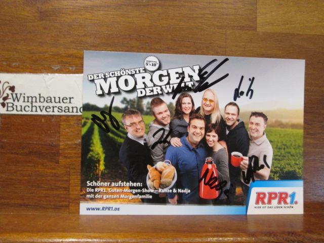 7 Original Autogramme RPR1 Morgenfamilie /// Autogramm Autograph signiert signed signee