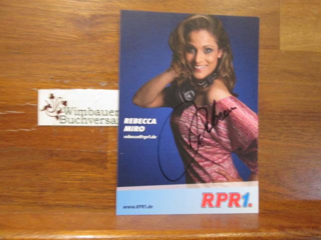 Original Autogramm Rebecca Miro Preluders RPR1 /// Autogramm Autograph signiert signed signee