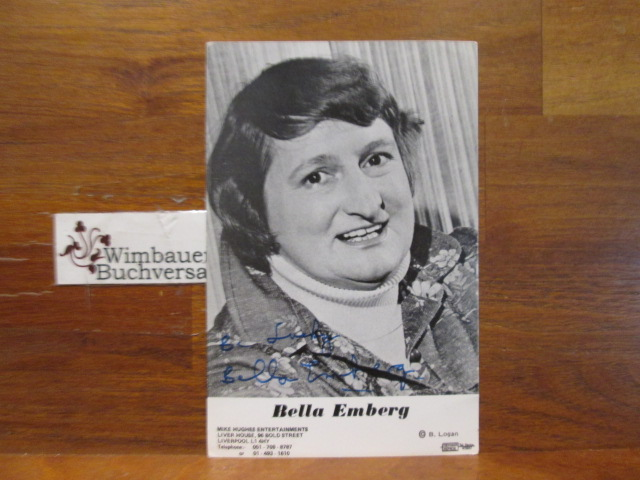 Original Autograph Bella Emberg english comedy actress 1937-2018 /// Autogramm Autograph signiert signed signee