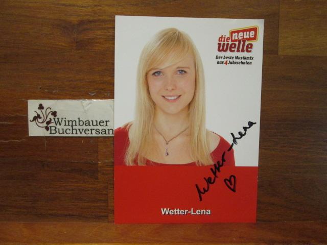 Wetter-Lena : Original Autogramm Wetter-Lena Moderatorin Radio Die Neue Welle /// Autogramm Autograph signiert signed signee