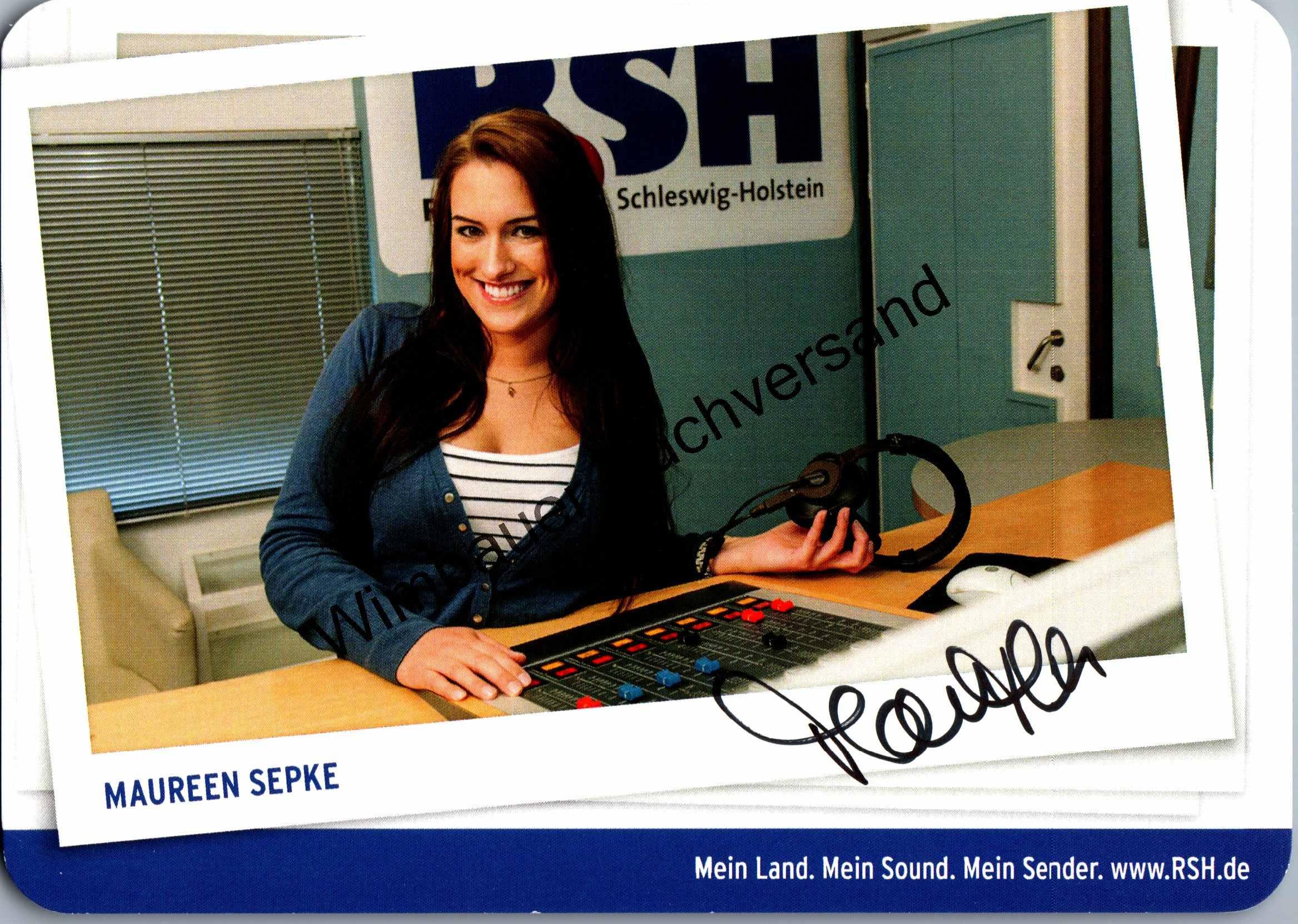 Original Autogramm Maureen Sepke Radio RSH /// Autogramm Autograph signiert signed signee