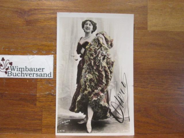 Signed Postcard La Belle Otéro