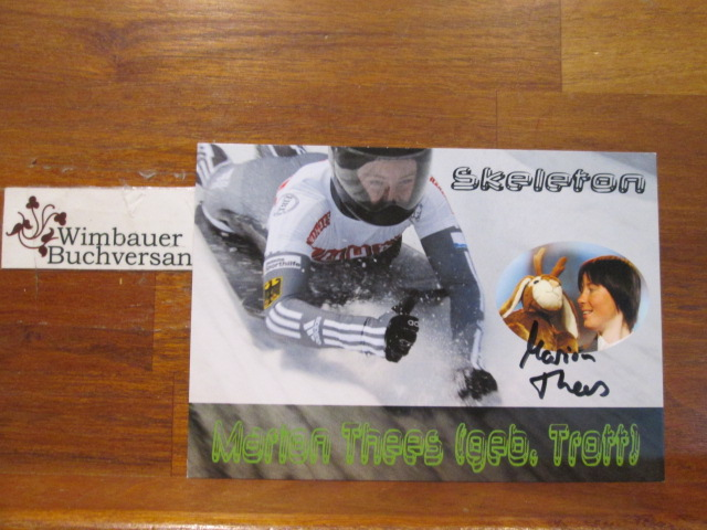 Original Autogramm Marion Thees Skeleton /// Autogramm Autograph signiert signed signee