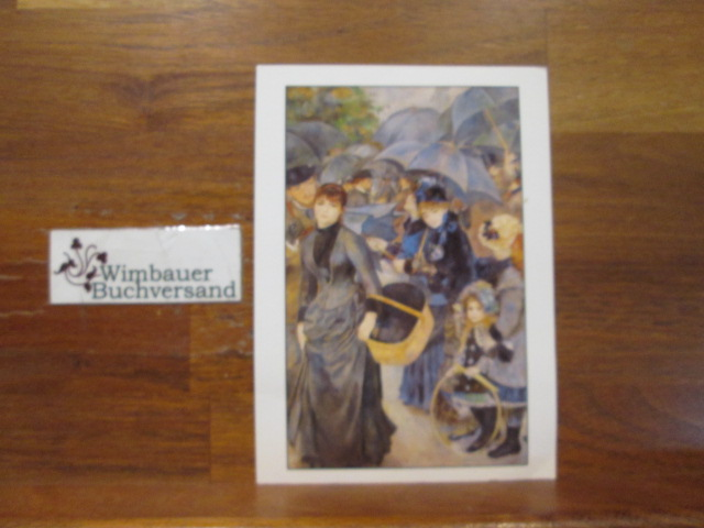 Kunstpostkarte Die Regenschirme