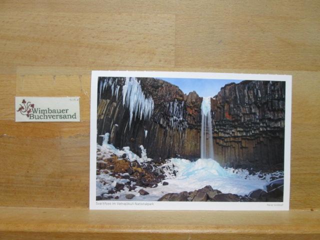 Photopostkarte Svarrtifoss im Vatnajökull-Nationalpark (Island 2017)
