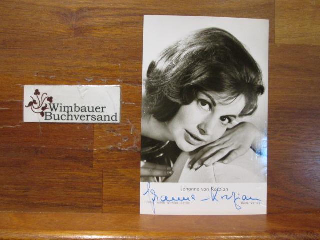 Original Autogramm Johanna von Koczian (*1933) /// Autogramm Autograph signiert signed signee