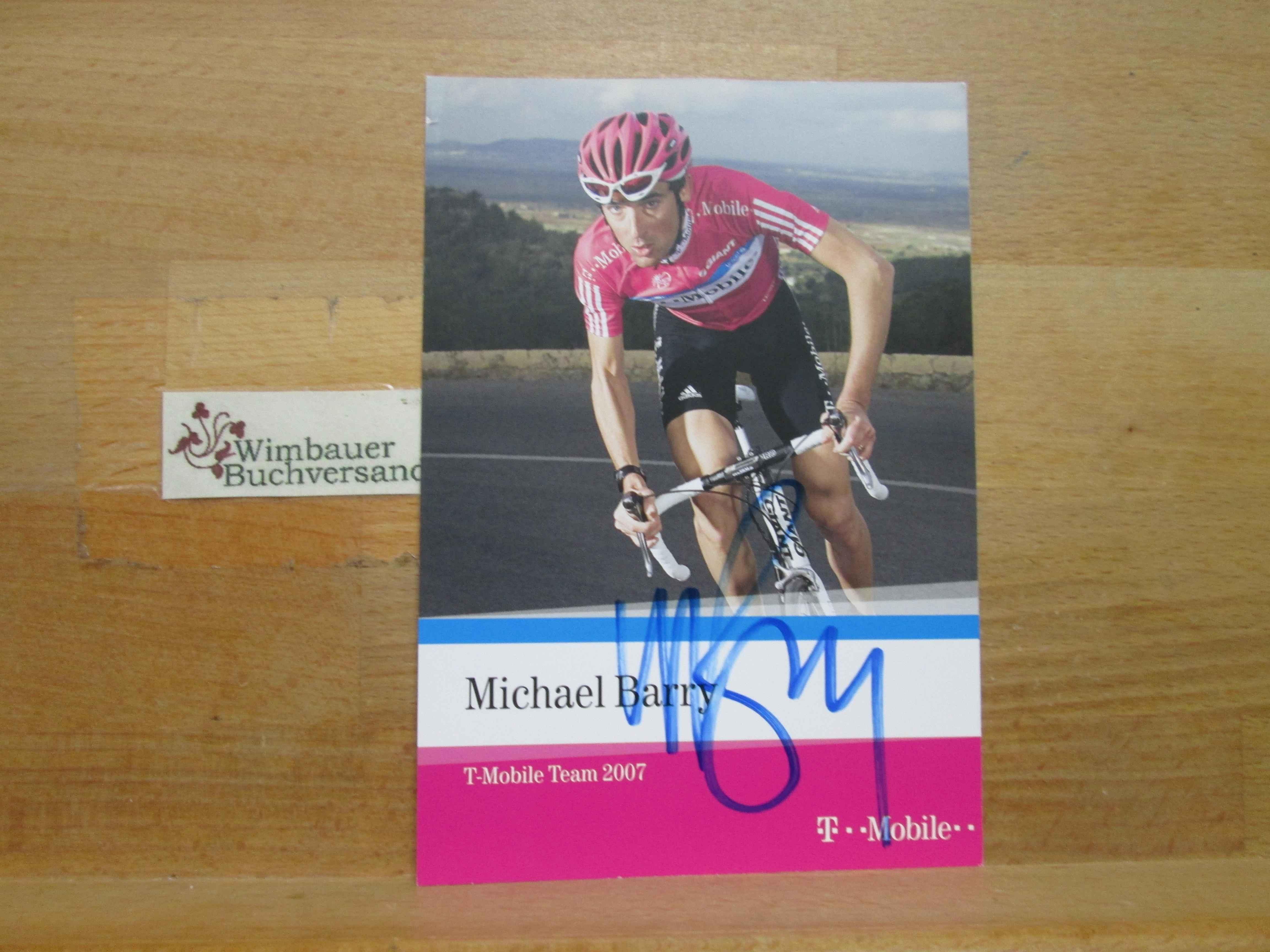 Original Autogramm Michael Barry Radsport T Mobile /// Autogramm Autograph signiert signed signee