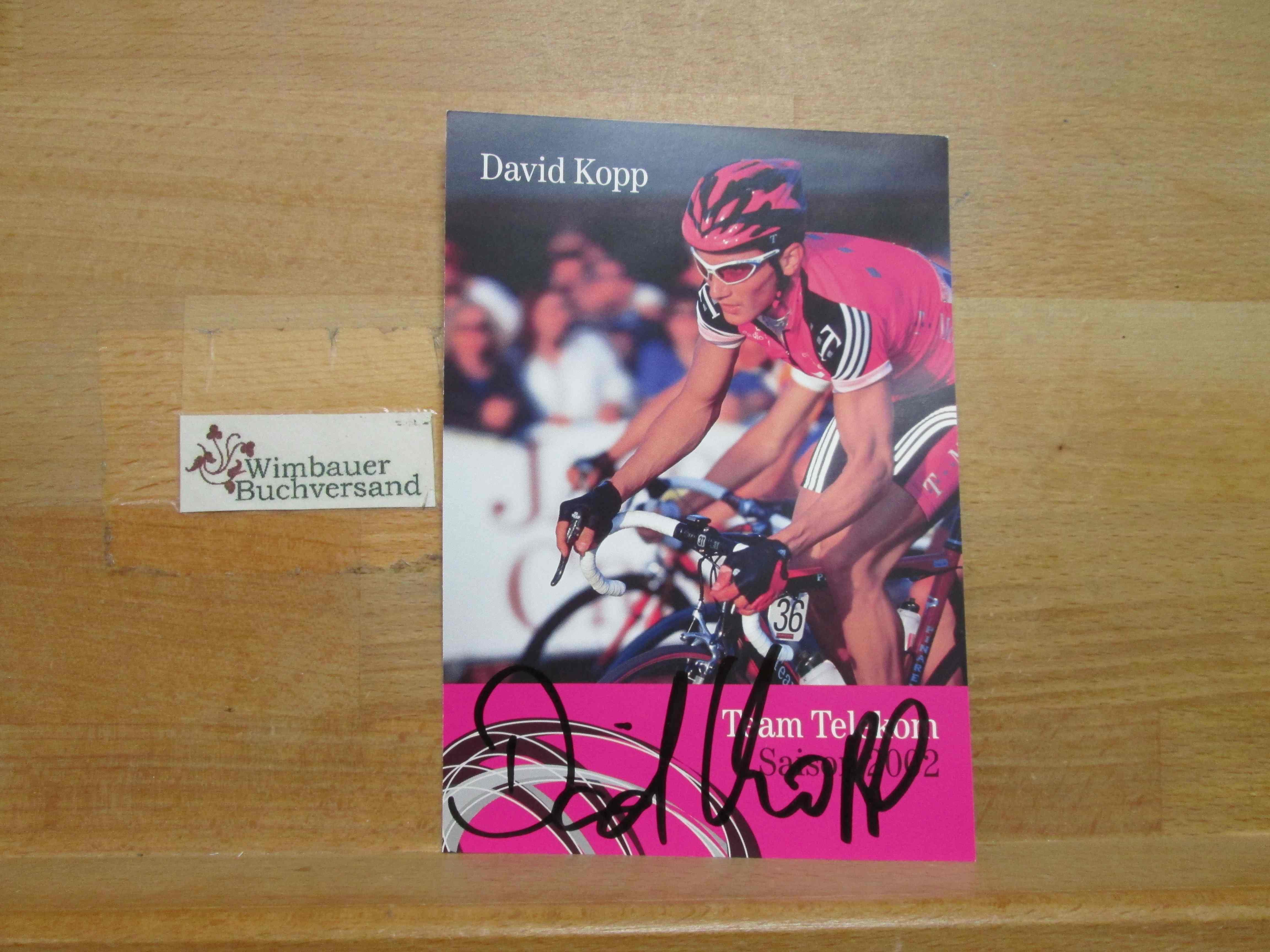 Original Autogramm David Kopp Radsport T Mobile /// Autogramm Autograph signiert signed signee