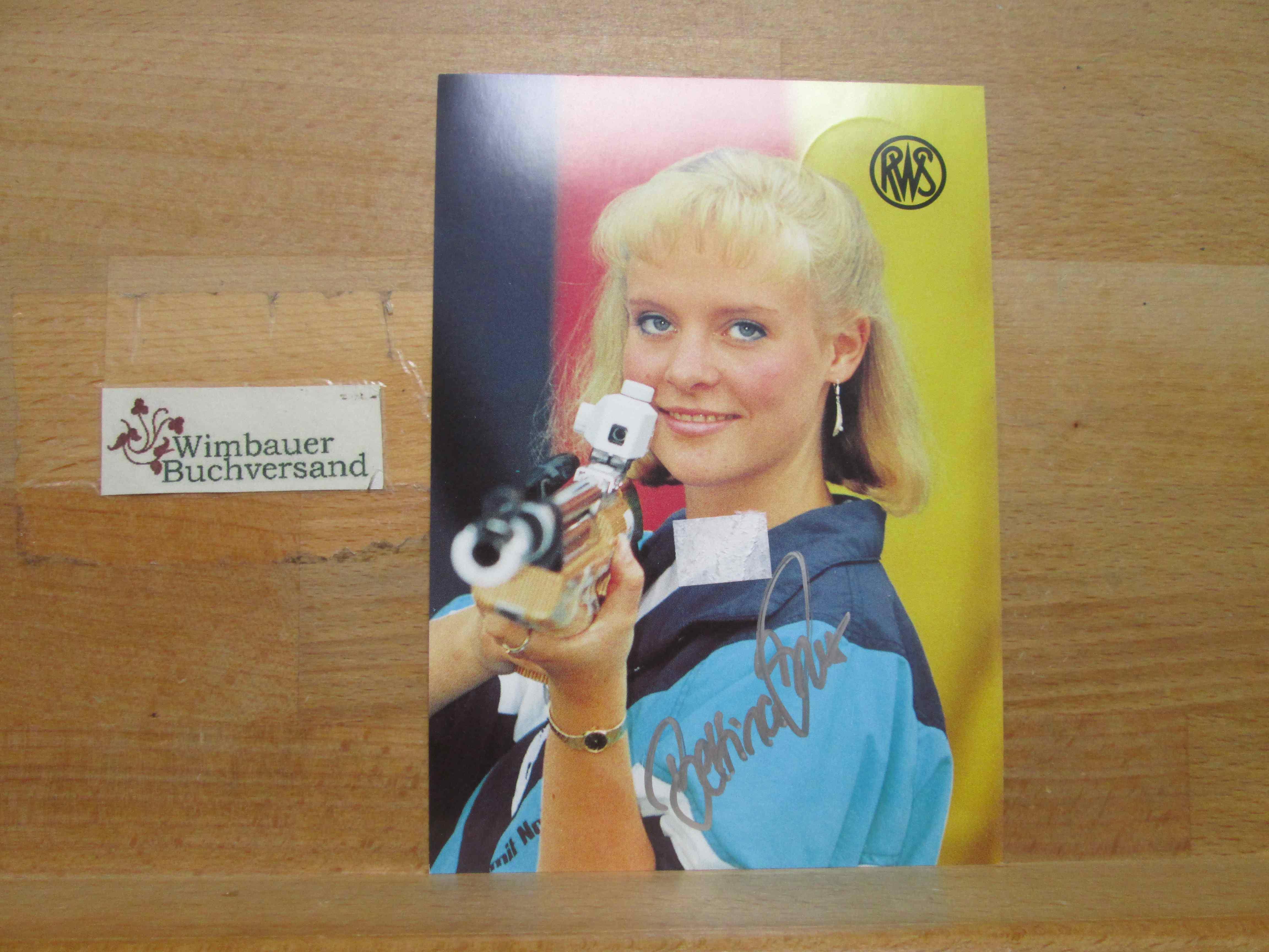 Original Autogramm Bettina Knells Olympia Sportschützin /// Autogramm Autograph signiert signed signee