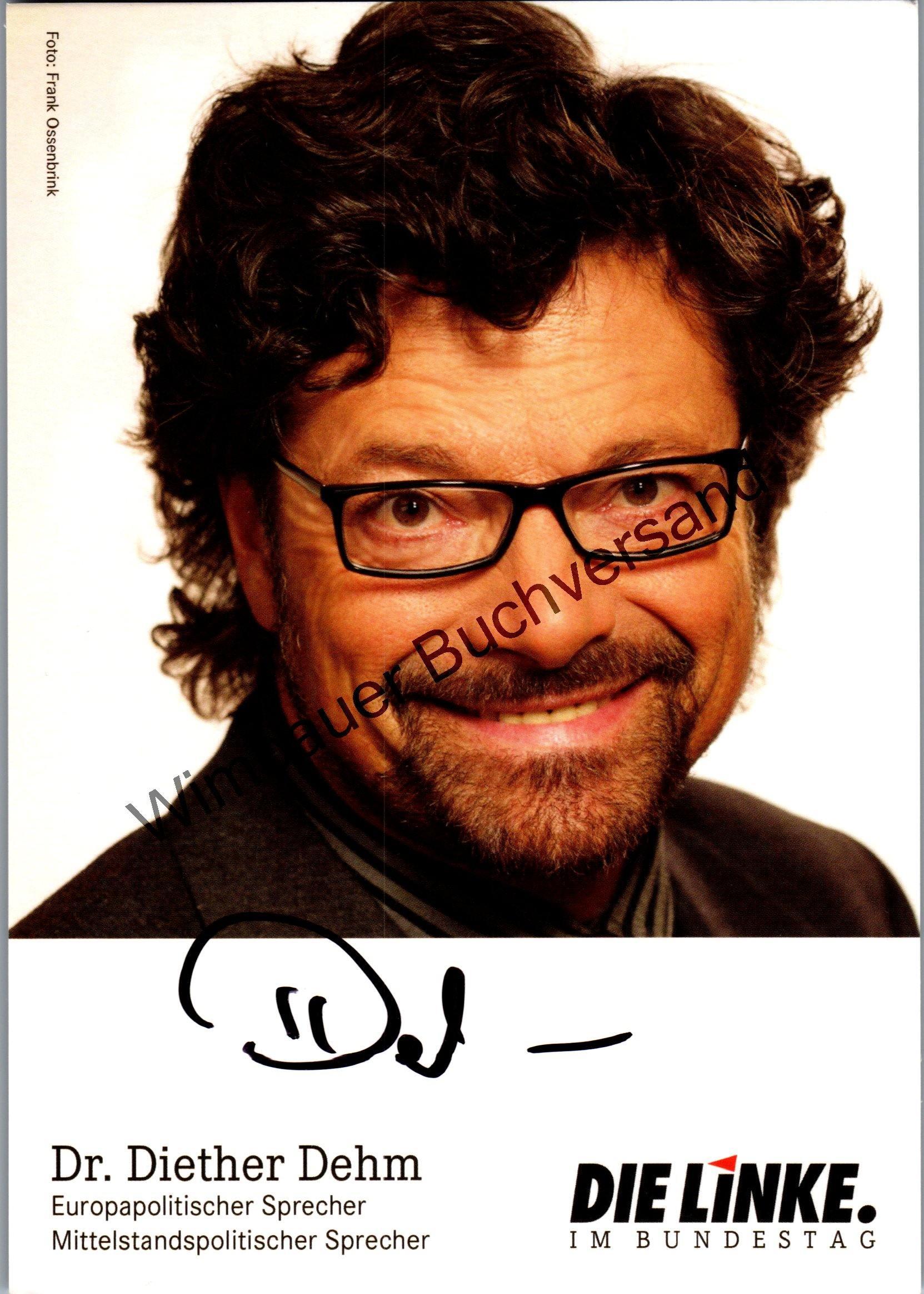 Original Autogramm Diether Dehm /// PDS Linke Liedermacher /// Autogramm Autograph signiert signed signee