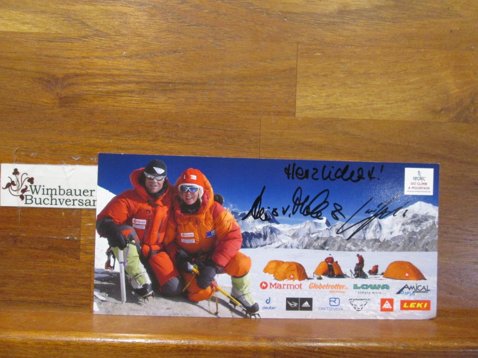 Original Autogramm Luis Stitzinger & Alix von Melle Extrembergsteiger /// Autogramm Autograph signiert signed signee