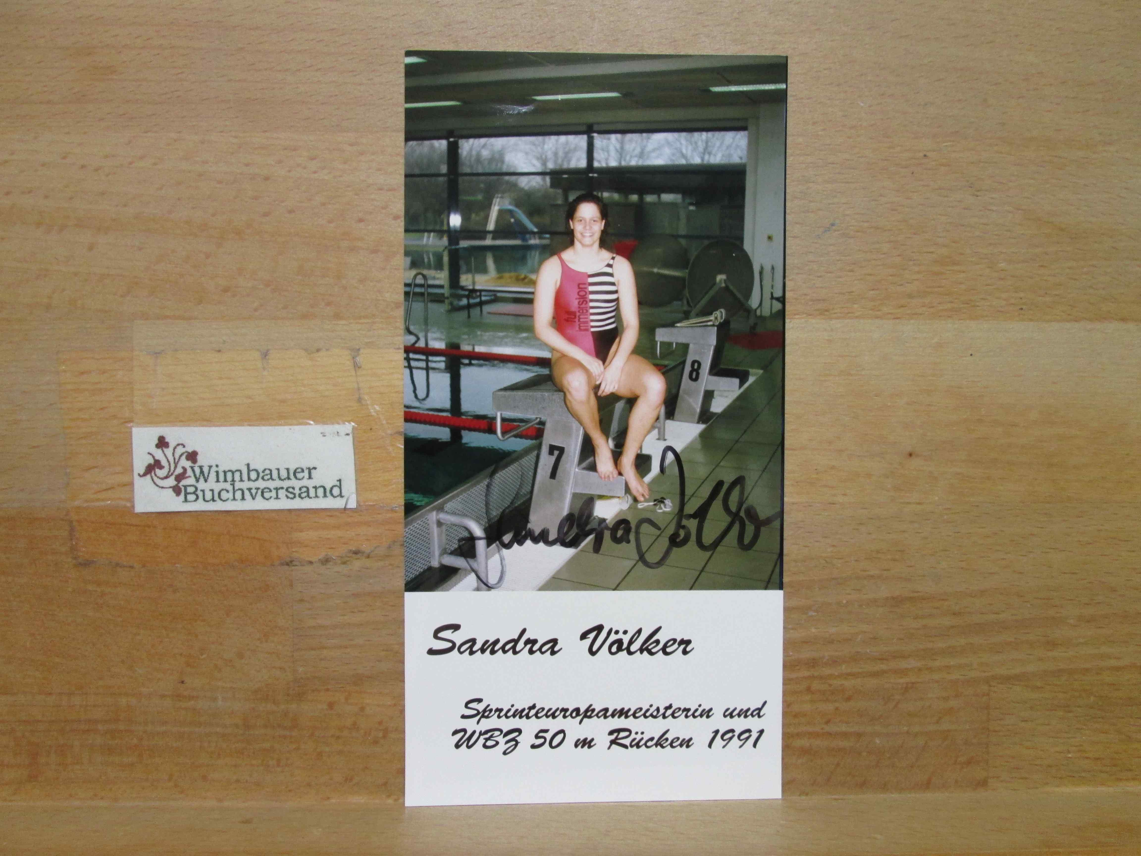 2xOriginal Autogramm Sandra Völker /// Autogramm Autograph signiert signed signee