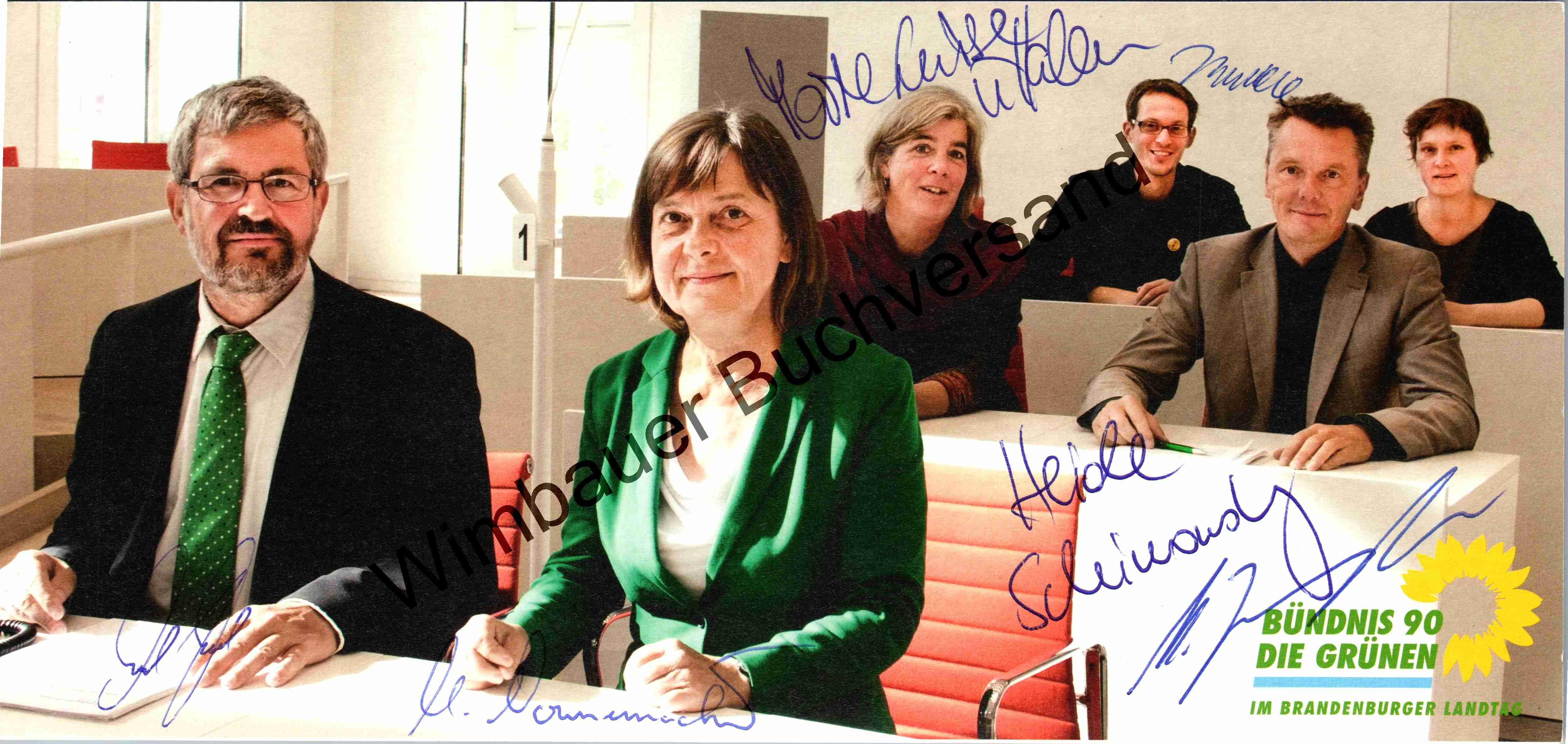 Original Autogramme Die Grünen Landtagsfraktion Brandenburg /// Autogramm Autograph signiert signed signee