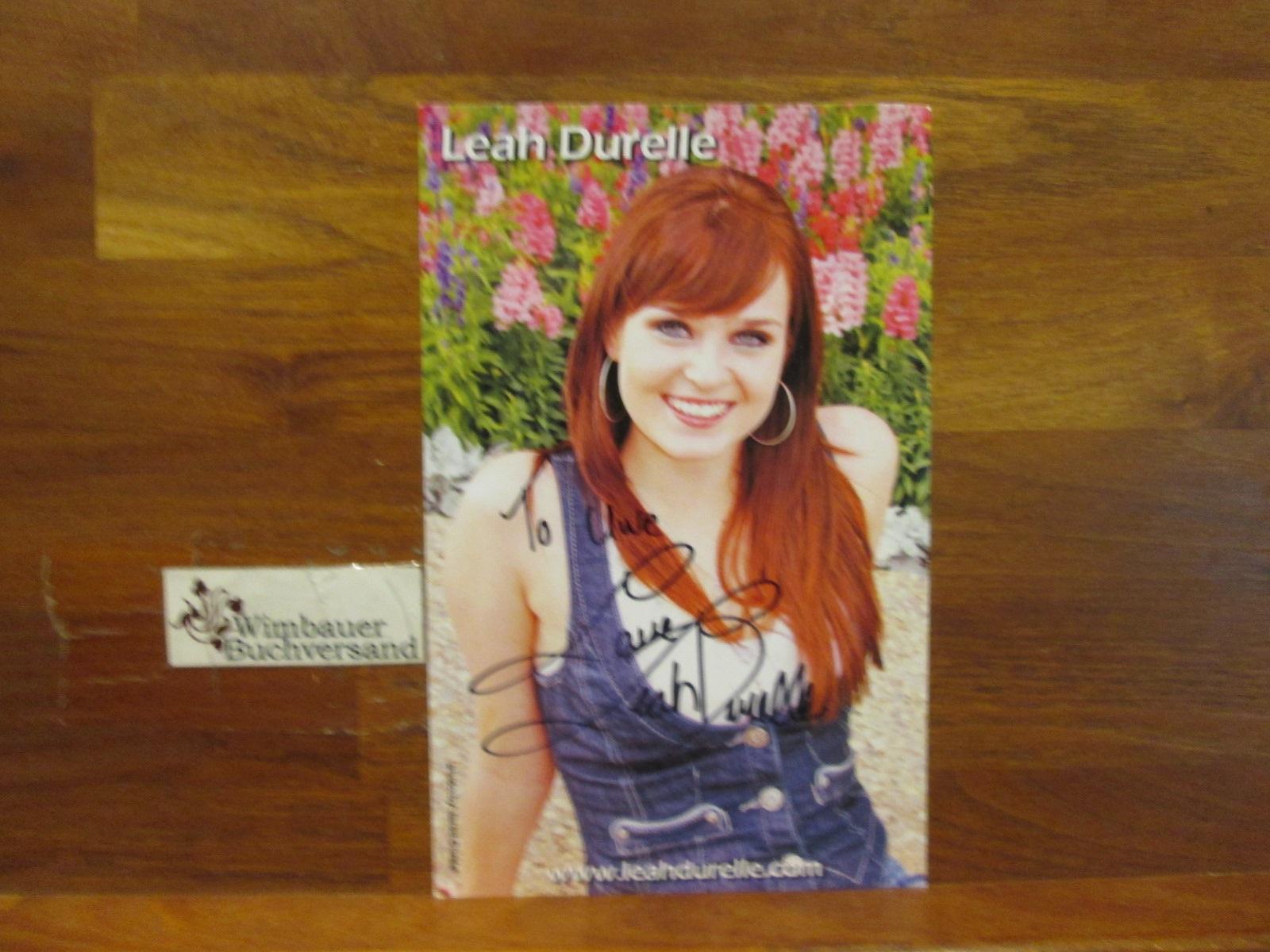 Original Autogramm Leah Durelle /// Autogramm Autograph signiert signed signee