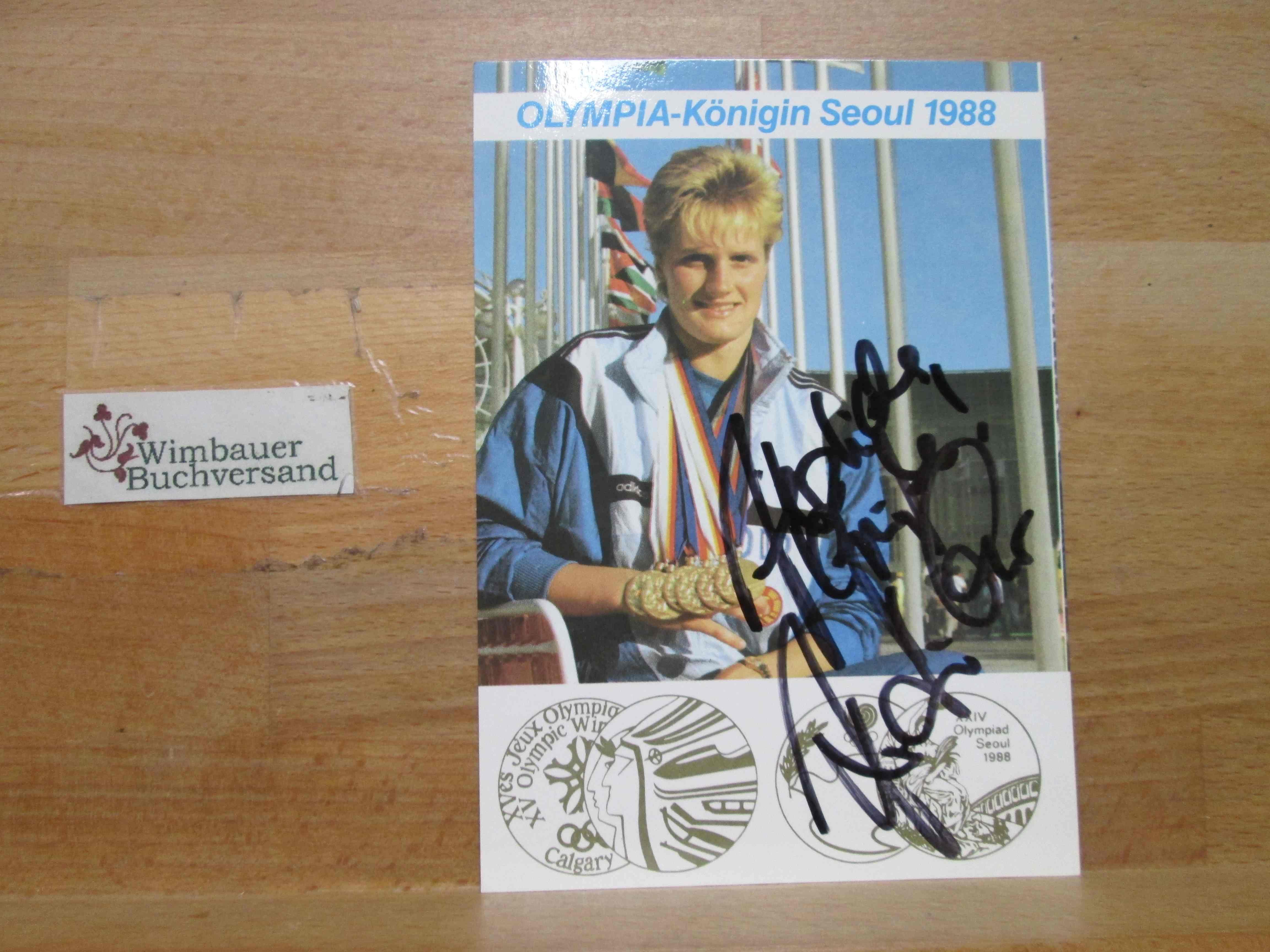 Original Autogramm Kristin Otto Schwimmen Olympia /// Autogramm Autograph signiert signed signee