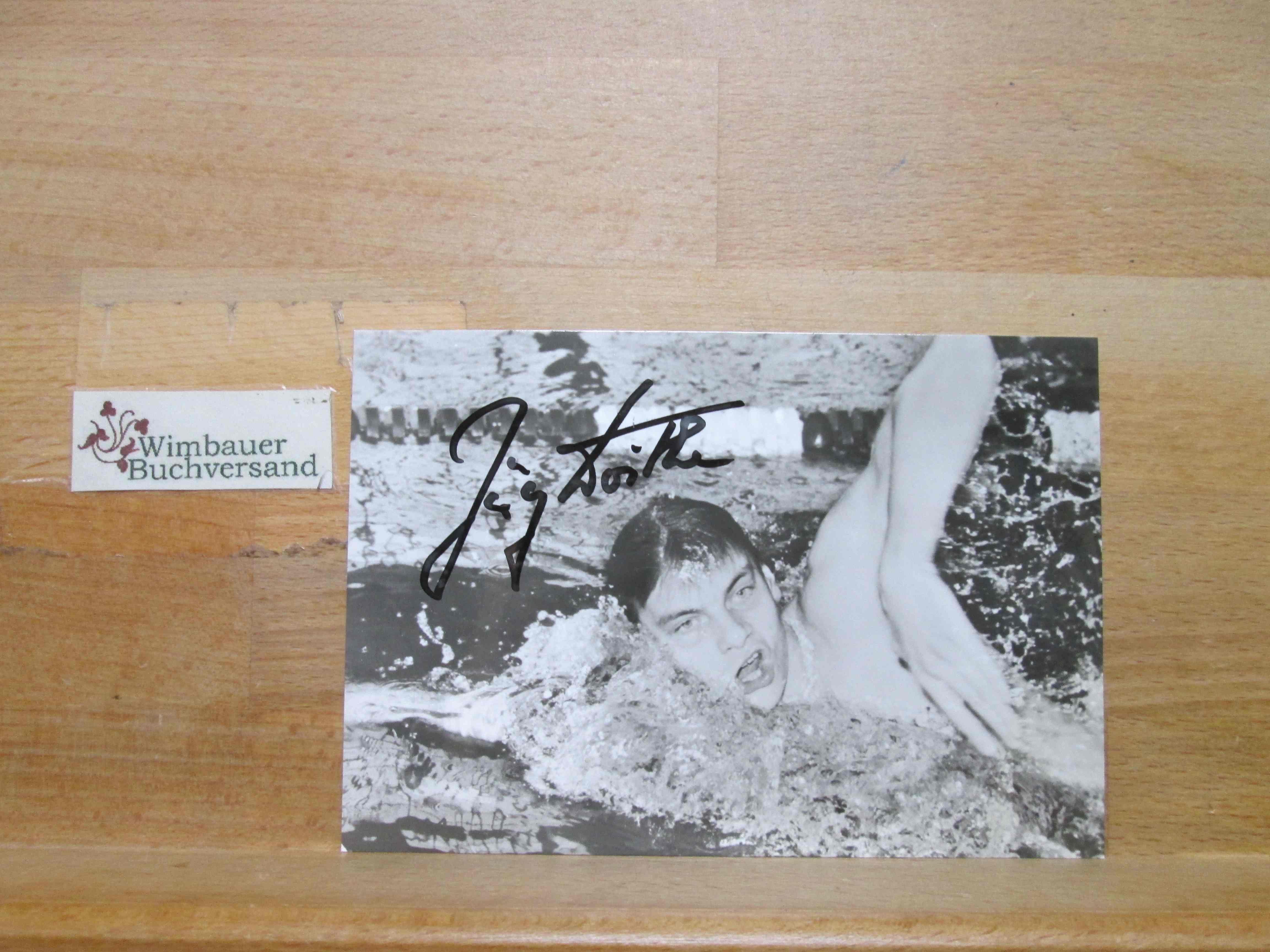Original Autogramm Jörg Woithe Schwimmen DDR /// Autogramm Autograph signiert signed signee