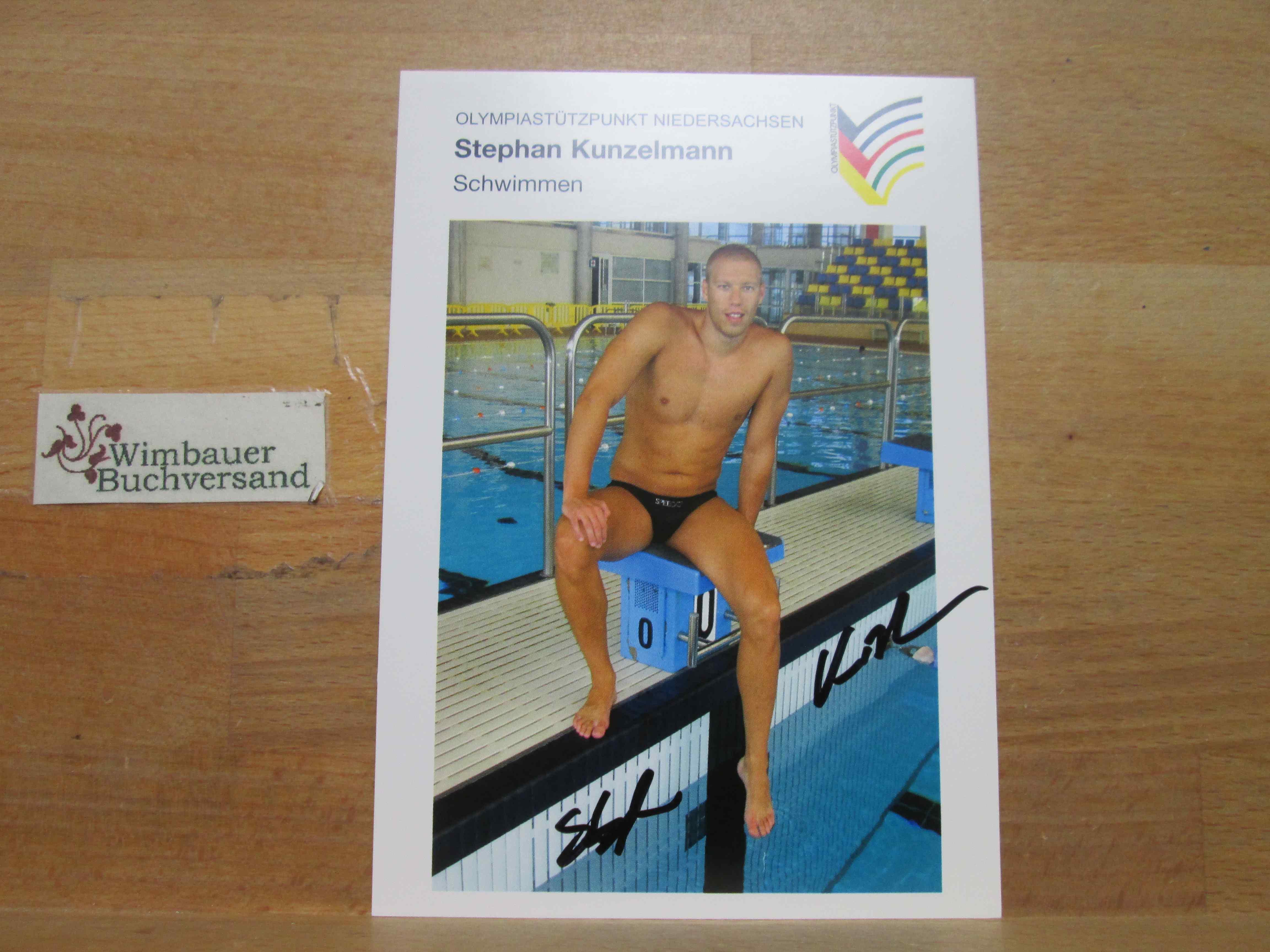 Original Autogramm Stephan Kunzelmann Schwimmen /// Autogramm Autograph signiert signed signee
