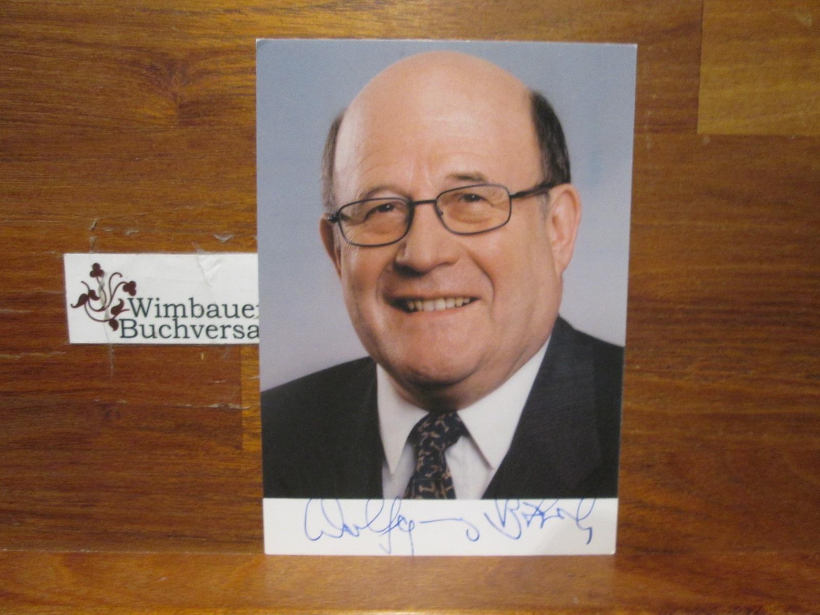 Original Autogramm Wolfgang Bötsch (1938-2017) Bundesminister /// Autogramm Autograph signiert signed signee