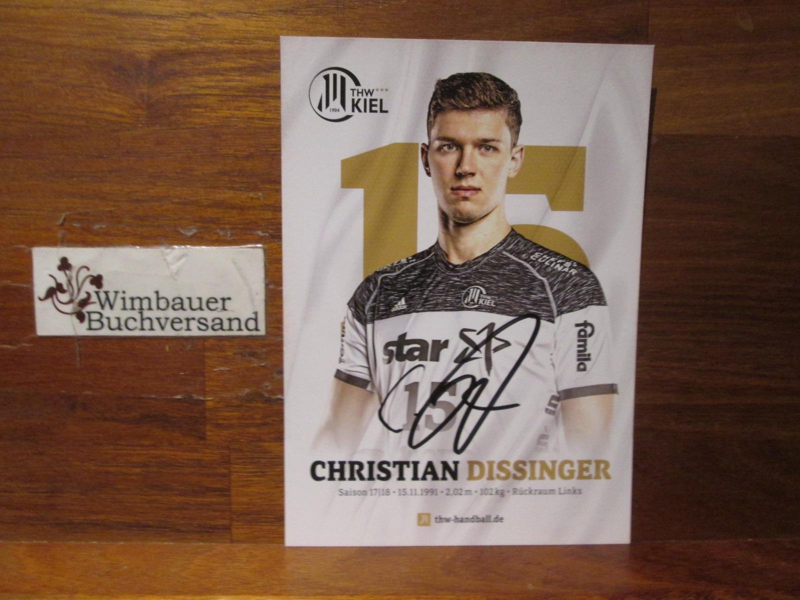 Original Autogramm Christian Dissinger THW Kiel /// Autogramm Autograph signiert signed signee