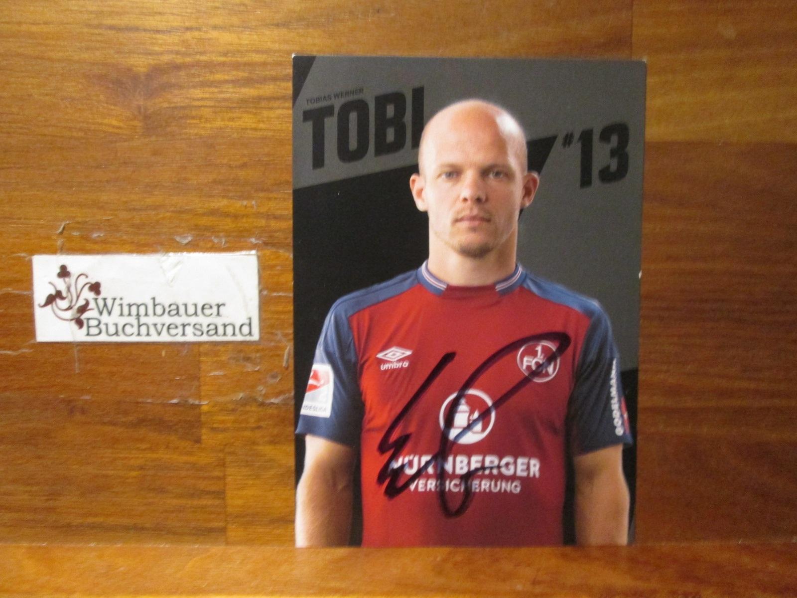 Werner, Tobias : Original Autogramm Tobias Werner 1.FC Nürnberg /// Autogramm Autograph signiert signed signee