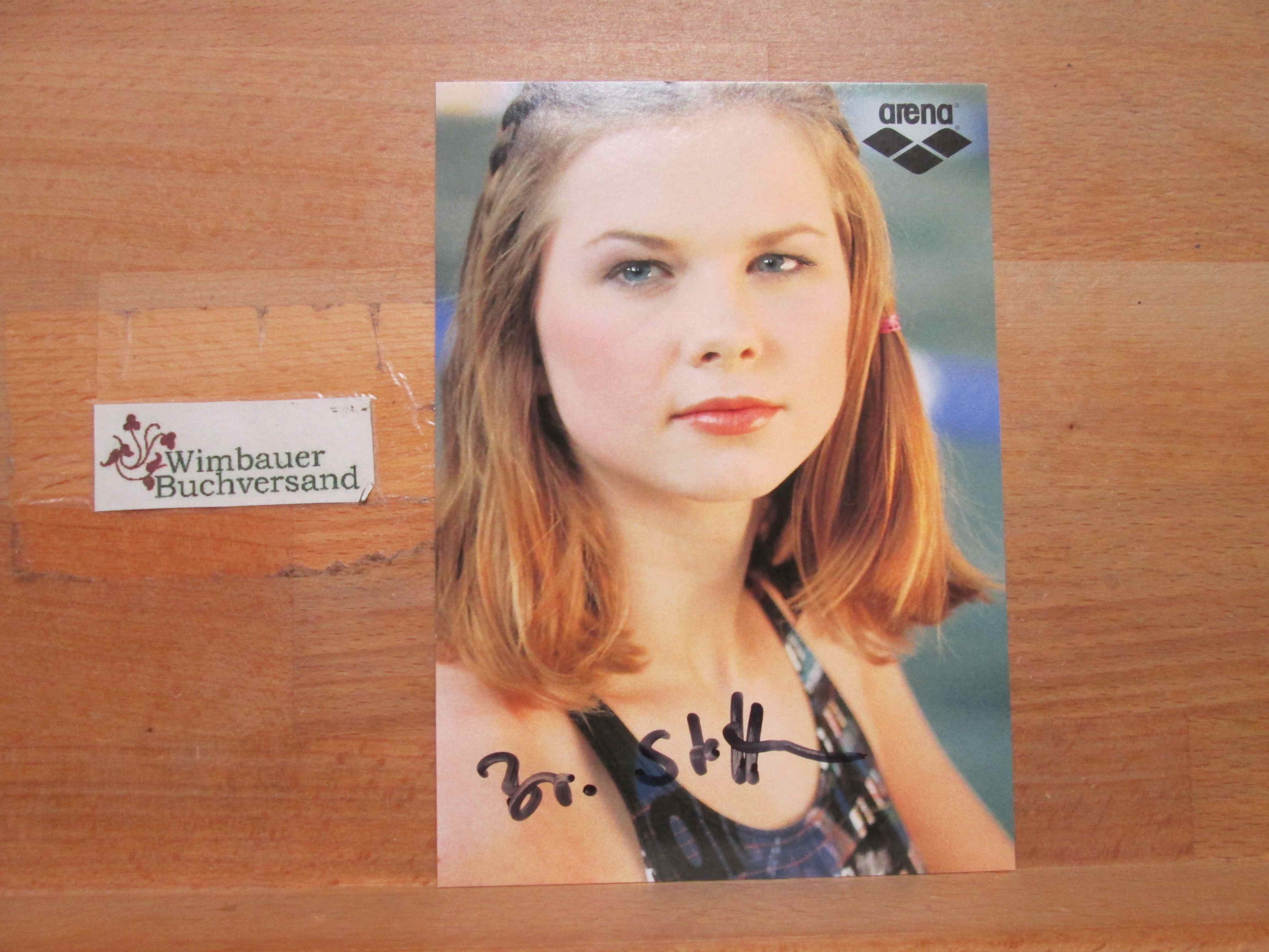 Original Autogramm Britta Steffen Schwimmen /// Autogramm Autograph signiert signed signee