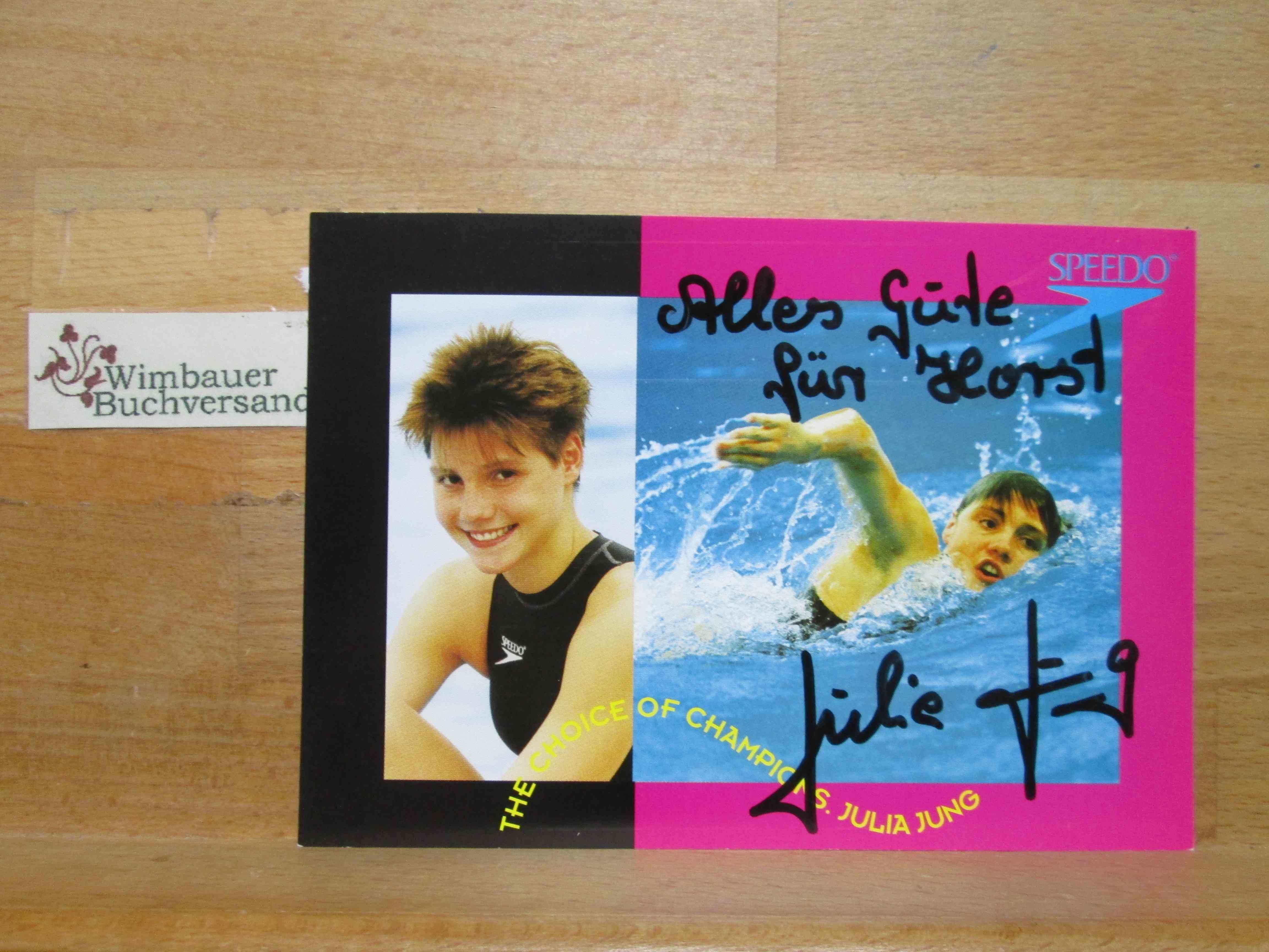 Original Autogramm Julia Jung Schwimmen /// Autogramm Autograph signiert signed signee