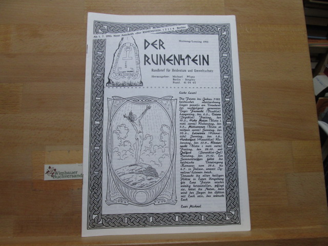 Der Runenstein : Rundbrief für Heidentum und Umweltschutz. Hornung Lenzing 1993 Heidnische Gemeinschaft Berlin