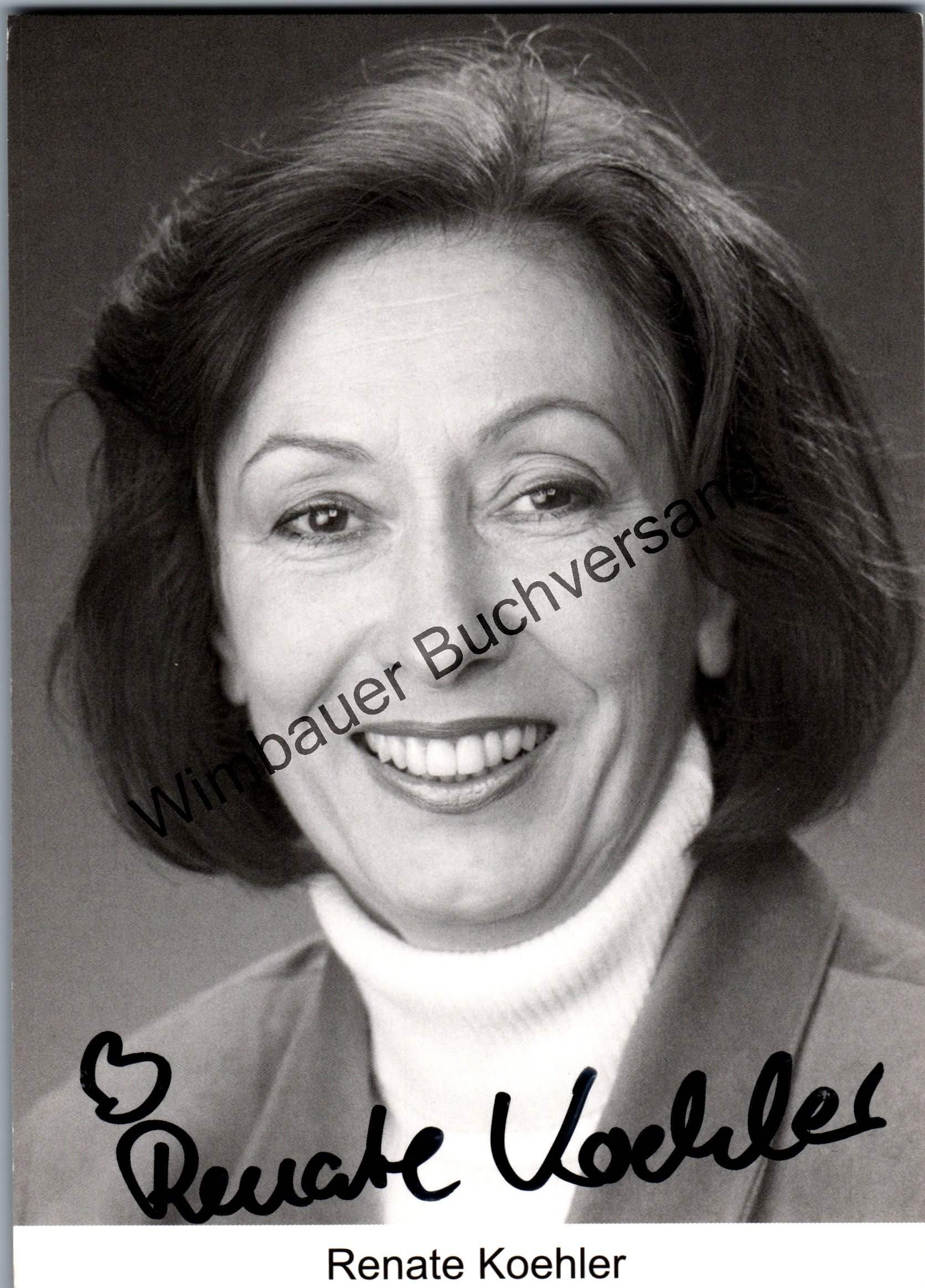 Original Autogramm Renate Koehler /// Autogramm Autograph signiert signed signee