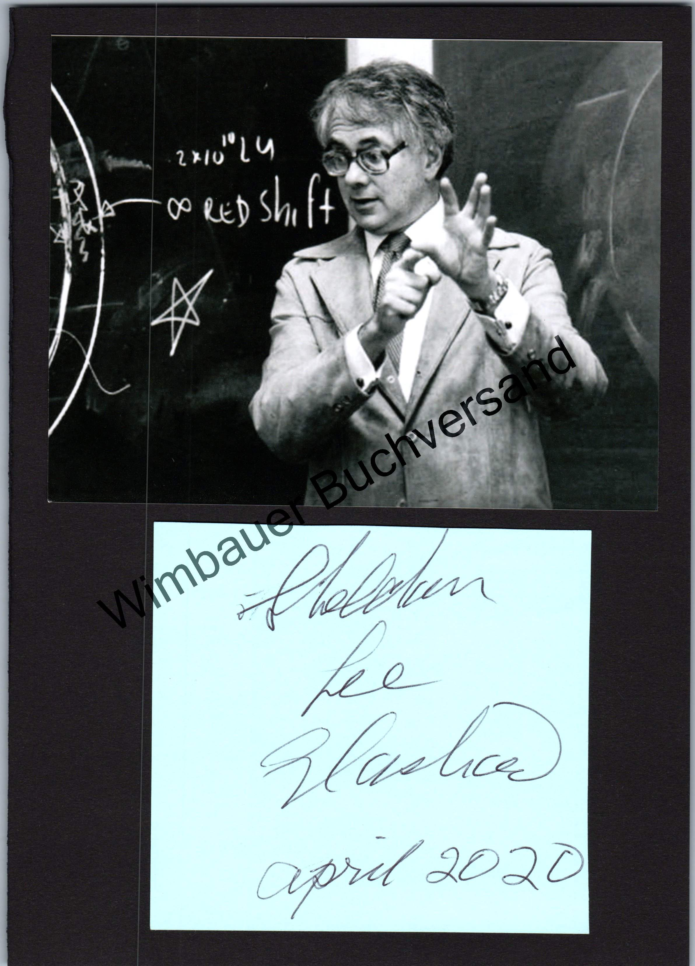 Sheldon Lee Glashow Nobelpreis für Physik 1979 // Autogramm Autograph signiert signed signee
